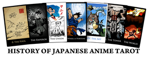 Cards - History of Japanese Anime Major Arcana by SouthParkTaoist