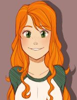 SpiritSong - Sierra with her hair down by FoxxBrush