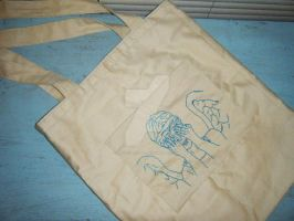Don't Blink Tote by kookookitty