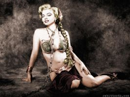 Monroe as Slave Leia Colorized by Rabittooth