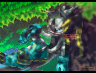 Electric the hedgehog full color. by eliana55226838