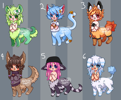 Chibitaur Batch (closed) by Kariosa-Adopts