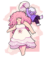 Rose and Amethyst by toripng