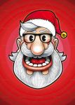 Hipster Santa Illustration by doghead