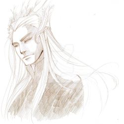 Thranduil Sketch by tepaipascual