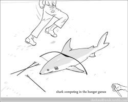 Shark Competing in the Hunger Games by Wenamun
