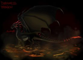 Darkness dragon by Anutwyll