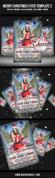 Merry Christmas Flyer Template 2 by MarioGembell