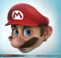 Real Super Mario by pixeloo