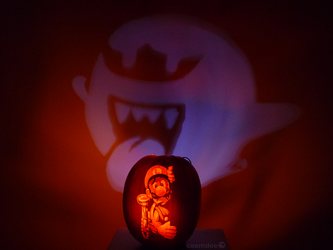 Luigi's Mansion Pumpkin Projection by ceemdee
