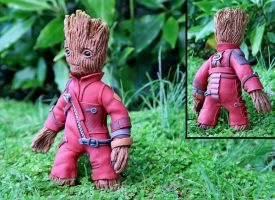 Groot (Polymer Clay Sculpture). by Claysan