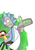 Come on Moo*URRRP*oorty | Rick And Morty Fan-Art by CorytheC