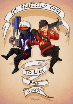 Overwatch and TF2 by reaperfox