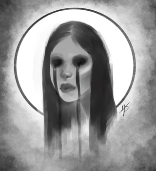 Sad Ghost Lady by Farefarren