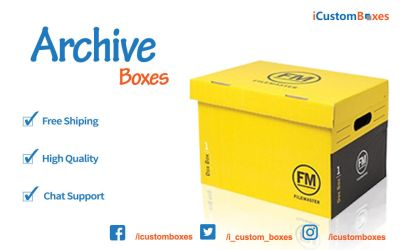 Customized Archive Boxes with your Logo by parkericb