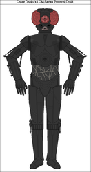 Count Dooku's LOM-Series Protocol Droid by MarcusStarkiller