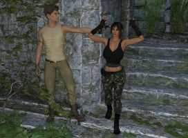 Lara Croft Abandoned Temple Pages 04 by Akahando