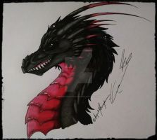 Abaddon Dragon Form :New: Ref 1 by SafireCreations
