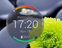 Motorola Droid Turbo Circle Weather for xwidget by Jimking