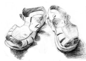 My Worn Sandals by Valnor