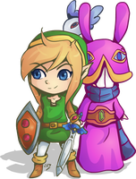Link and Ravio by Lady-of-Link