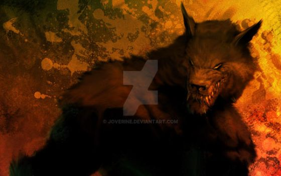 werewolf print via zazzle by joverine
