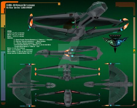 Romulan Battlecruiser Data Sheet by Kodai-Okuda