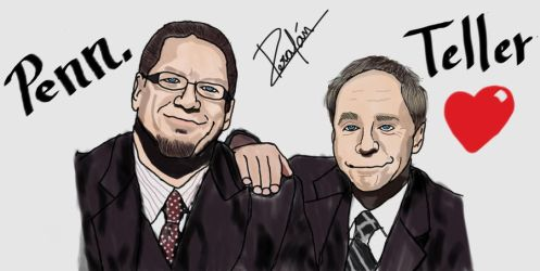 Penn AND Teller by Sissiissis
