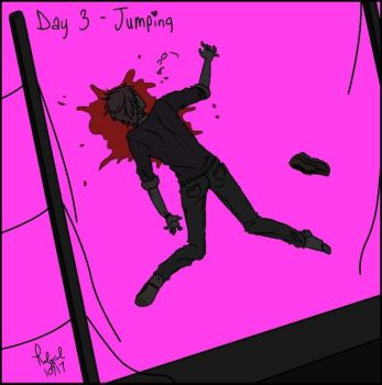 Goretober Day 3 Jumping by Rolycul