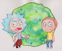 Rick and Morty by InVaDeR-YaMi