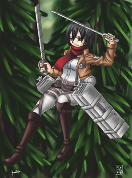 Attack on Titan Mikasa by Yunsildin