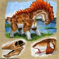 Amargasaurus by TheDragonofDoom