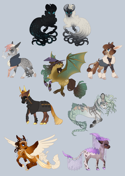 April Adoptables | PLAYER SELECT by queerly