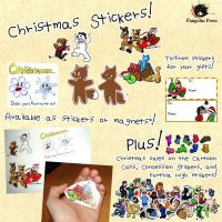 Christmas Stickers 2010 by QuetzaDrake