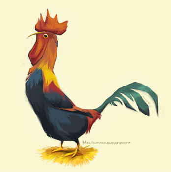 Daily Design: Rooster by sketchinthoughts