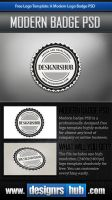 Free Logo Template: A Modern Logo Badge PSD by MGraphicDesign