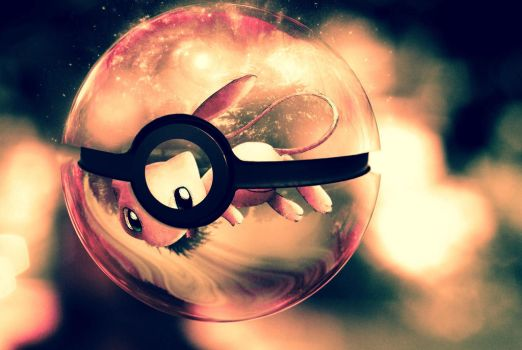 The Pokeball of mew by wazzy88