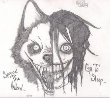 Smile Dog/Jeff the Killer by ArchdemonErin