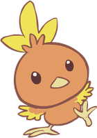 255. Torchic by HappyCrumble