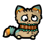 Tiki chibi by catppuccinos