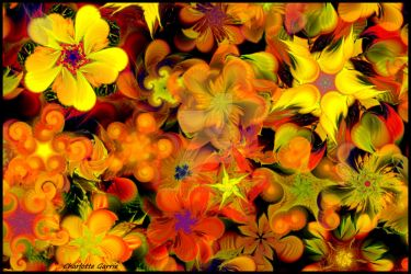 Autumn Flowers by TropicalFractals