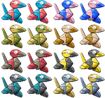 Porygon Pixel-overs by Axel-Comics