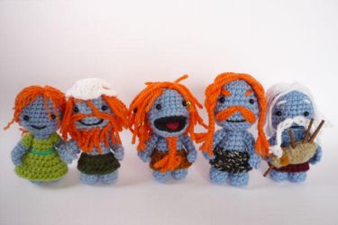 Wee Free Men (and woman) by LunasCrafts