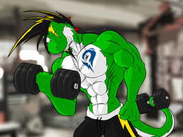 Yetshi's workout by McTaylis