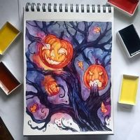 Instaart - Pumpkins on the tree by Candra