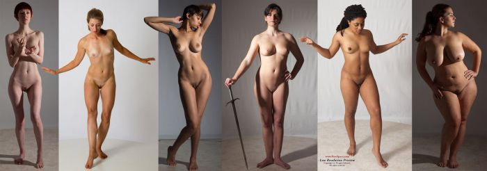 Different body types by livemodelbooks
