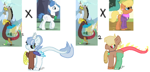 Draconequus Ship Adopts #2 [OPEN] by RoyalSwirls