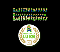 The Year of Luigi Sprites by PxlCobit