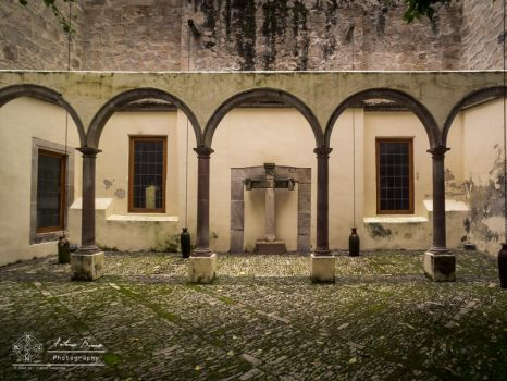 Old convent: Lonely cross by abravewolf