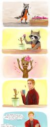GOTG Rocket and Groot by fonin